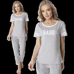 Piżama Babe Long Grey