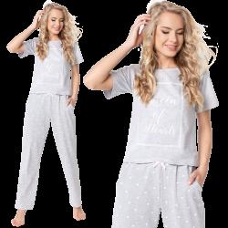 Piżama Hearty Long Grey