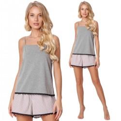 Piżama Adelide Short Dark Grey