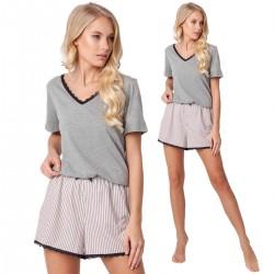 Piżama Gwen Short Dark Grey