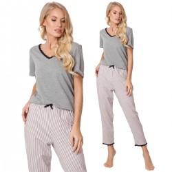 Piżama Gwen Long Dark Grey
