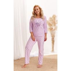 Piżama 2468 Nadia AW/20 - Kolor 02 - Fioletowy melanż